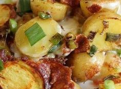 ~ Crock Pot Potatoes with Bacon and Cheese