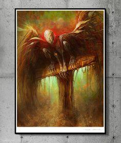 Azazel - llustration art giclée print signed by the artist. 30 x 40 cm poster…