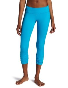Beyond Yoga Women's Gathered Legging, Electric Blue, Large by Beyond Yoga. $47.97. Made from our Supplex fabric-A luxuriously soft and durable moisture-wicking performance fabric. Provides generous stretch and full recovery; retaining color and shape after every wash.. 90% Supplex/10% Lycra. Our signature figure-flattering waistband fits perfectly, creating a smooth silhouette.. Perfect for the gym or as a fashion essential for your everyday wardrobe.. A favorite ...