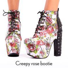 아이언피스트 creepy rose bootie  #ironfist #아이언피스트 #펑키 #유니크 #여자구두 #부티 #부츠