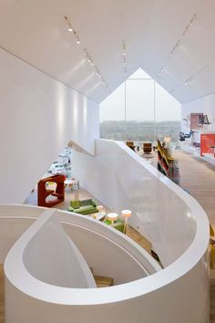 Fotograaf: Iwan Baan Architect: Herzog & de Meuron - Vitra Haus | Vitra Campus, Weil am Rhein Germany
