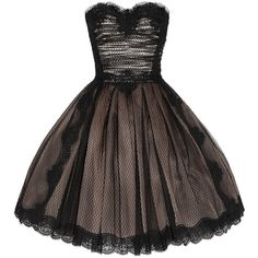 Dolce & Gabbana Strapless lace and tulle dress ($1,235) ❤ liked on Polyvore featuring dresses, vestidos, short dresses, robes, brown cocktail dress, brown dress, tulle cocktail dresses and fitted dress