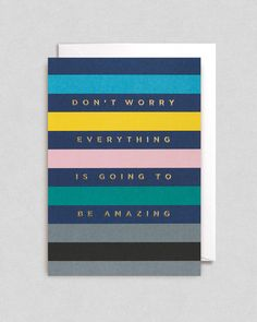 It's Going To Be Amazing Greeting Card | Lagom Design