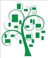 family tree idea for wall.