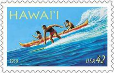 Hawaii 50th Anniversary of Statehood Stamp