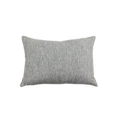 This pillow cover has charcoal and white stripes. linen front (lined). linen back. Recommend sizing up for a square and same size for a lumbar: Decorative Pillow Insert