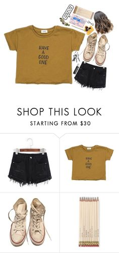 """❃;; see ya on the other side"" by emma-love23 ❤ liked on Polyvore featuring Converse, Chapstick, Kate Spade, ...Lost and 23lovesets"