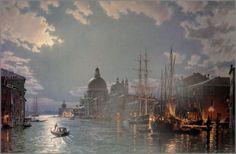 John Stobart Paintings | artists stobart john stobart venice moonlight on the grand canal