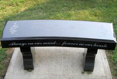 grave bench monuments | Memorial Benches | Linwood Cemetery Association