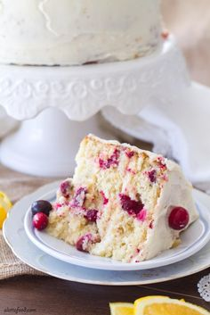 Cran Orange Cake This easy cranberry orange cake is the perfect Christmas dessert! Loaded with cranberries and sweet orange flavor, this cake recipe is quickly becoming my favorite!