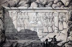 File:Relief Fath Ali Shah and his son by Eugène Flandin.jpg