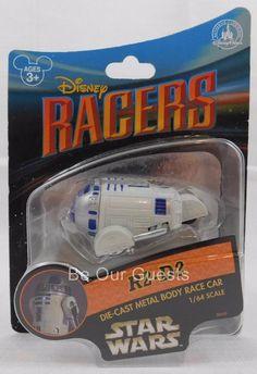 Disney Parks Star Wars Racers Die-Cast Metal Body Race Car New Droid R2-D2