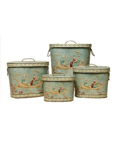 Look what I found on #zulily! Oval Venice Tin Set #zulilyfinds