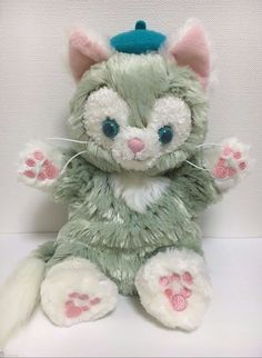 "Disney bear Duffy friend "" Gelatoni "" Hand Puppet stuffed toy Tokyo Disney Sea…"