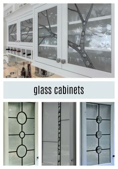 Glass Cabinets - Beautiful, Handcrafted, Custom Made Glass Cabinet Inserts - Original Designs, Old World Craftsmanship Glass Cabinets, Glass Cabinet Doors, Bathroom Cabinets, Types Of Cabinets, Living Room Cabinets, Custom Glass, Glass Design, Old World, Modern