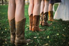 pretty b'maids in cowboy boots, all in a row!