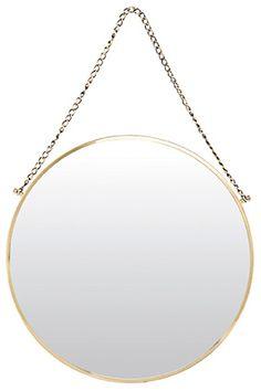 Bolina Spegel Mässing från danska House Doctor. En vacker rund spegel med upphängning av en dekorativ kedja.