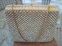 Fabulous Vintage New Old Stock 1950's Walborg Rhinestones Purse Evening Bag. via Etsy.