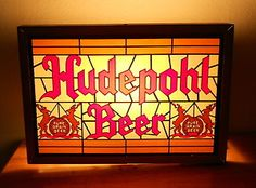Hudepohl Beer Cincinnati Ohio Vintage Lighted Advertising Sign | eBay