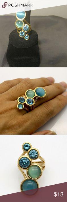 I just added this listing on Poshmark: Stunning Blue Opal Gold Finish ring sz 8. #shopmycloset #poshmark #fashion #shopping #style #forsale #Jewelry