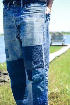 We at Jean Stories love a field trip. (Haven't met a denim mill or wash house we didn't love). Denim Ideas, Denim Trends, Patchwork Jeans, Denim Fabric, Unisex Fashion, Denim Fashion, Denim Art, Men's Denim, How To Patch Jeans