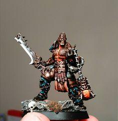 Warhammer Age of Sigmar   Khorne Bloodbound   Slaughterpriest conversion #warhammer #ageofsigmar #aos #sigmar #wh #whfb #gw #gamesworkshop #wellofeternity #miniatures #wargaming #hobby #fantasy