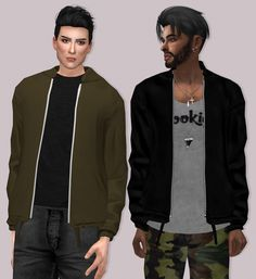 Semller GStar Jacket Male Version at Lumy Sims • Sims 4 Updates