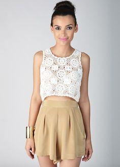 MinkPink Little White Lie Crochet Tank - Tank Tops - Womens Online Clothing Boutique | Collective Habit