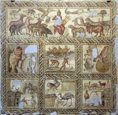 Orpheus Mosaic, Jamahiriya Museum, Tripoli, Libya. From the villa Orpheus, near…