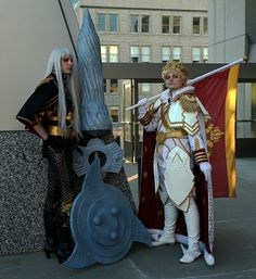 Brigadier General Selvaria Bles (セルベリア ブレス) and Prince Maximilian (マクシミリアン), from the Valkyria Chronicles video games (戦場のヴァルキュリア)