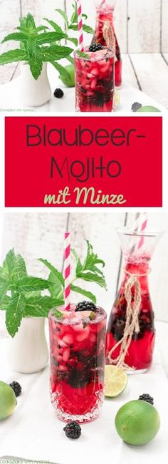 Blueberry Mojito mit Minze – C & B mit Andrea – Ostern Blueberry … - Cocktail Rezepte 2020 Whiskey Drinks, Cocktail Drinks, Cocktail Recipes, Blackberry Whiskey, Mojito Pitcher, Spritz Recipe, Mojito Mocktail, Limeade Recipe, Easy Summer Cocktails