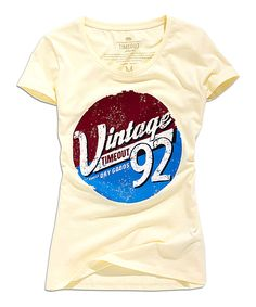 TIMEOUT Champagne vintage 92 Scoop Neck Tee | zulily