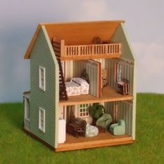 1/144th Scale Cottage with Loft - Dollhouse Miniature