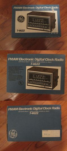Digital Clocks and Clock Radios: New Ge (General Electric) Fm/Am Electronic Digital Clock Radio Nos BUY IT NOW ONLY: $64.99
