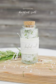 DIY Herbed Salt #Favors. Photography by parkroadphotography.com  Read more - http://www.stylemepretty.com/2013/09/26/herb-infused-inspiration-from-alisa-lewis-event-design-and-park-road-photography/