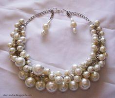 Collares con perlas | En el próximo post os enseñare un look con el collar, la verdad ...