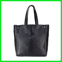 41df3d56b3ae Iuha Stylish Grain Leather Carryall Double Zip Accent Snake Embossed Tote  Hobo Shoulder Bag - Top · Sac A Main CabasSac ...