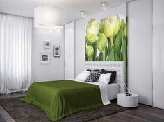Dormitorio matrimonial verde