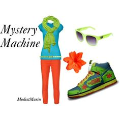 Mystery Machine inspired outfit! #ScoobyDoo