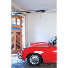 The Fremont Automatic Swing Out Garage Door Opener is unlike any other. With its patented German engineering, this swing out garage door opener is uniquely suited to operate out-swing carriage doors. The Fremont is durable, surprisingly quiet and very easy to install with our installation manual specifically written for this out-swing application. This opener has proven to be an affordable and reliable solution for many years. We are convinced that the Fremont will meet your needs and exceed you Swing Out Garage Doors, Sliding Garage Doors, Carriage Garage Doors, Red Garage Door, Automatic Garage Door, Installation Manual, Garage Door Opener Installation, Garage Renovation, Glass Barn Doors