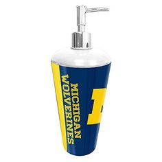Michigan Wolverines NCAA Bathroom Pump Dispenser