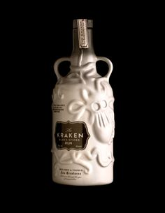 """To not respect the power of the Kraken is to not respect the sea."" Behold  a limited edition rum with a tale straight from the depths of the ocean.  Designed by Stranger & Stranger, this ceramic bottle is sure to intrigue  anyone who enjoys a good story behind their spirits."
