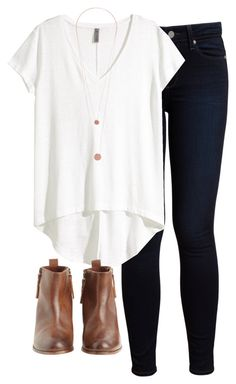 """""""back at it again with those booties"""" by morganburleigh ❤ liked on Polyvore featuring Paige Denim, H&M, Pieces and Hoss Intropia"""