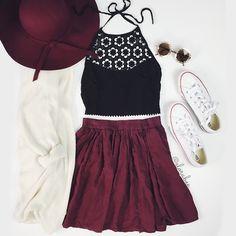 Top: @forever21 • cardi & skirt: @brandymelvilleusa •
