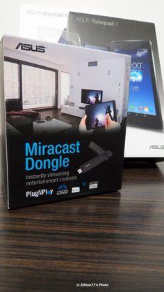 De acum continutul de pe displayul tabletei Asus poiectezi pe TV cu Asus Miracast Dongle
