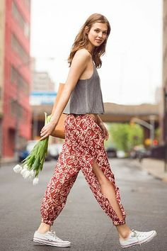 Band Of Gypsies Side-Slit Harem Pant - Urban Outfitters