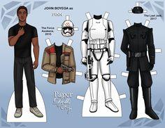 Finn (from Star Wars: The Force Awakens) paper doll