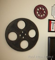 Materials and steps to making movie theater reels.  Next project!