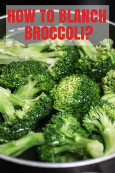 Blanching broccoli is the greatest way to get your vitamins! Here is a great recipe with some key rules to blanche broccoli. How To Blanch Broccoli, How To Prepare Broccoli, Cooking Fresh Broccoli, Blanching Broccoli, Raw Broccoli, Frozen Broccoli, Steamed Broccoli, Side Recipes, Keto Recipes