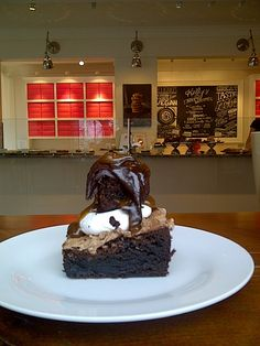The Mile High Brownie from Kelly's Bake Shoppe - gorgeous, rich, delicious, and also vegan, gluten-free and nut-free. Nut Free, Beautiful Interiors, Bakery, Gluten Free, Vegan, Cows, Desserts, Glutenfree, Tailgate Desserts